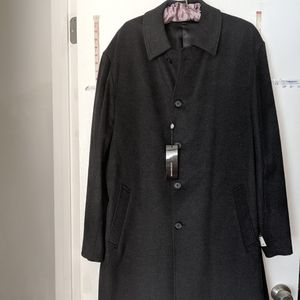 NEW JONES NEW YORK MENS 44R BLACK CASHMERE COAT